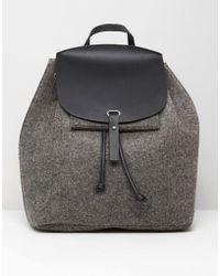 Mango - Felt Backpack - Lyst