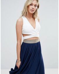 Wal-G - Cross Front Crop Top - Lyst