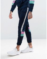 Illusive London - Skinny Track Joggers With Taping - Lyst