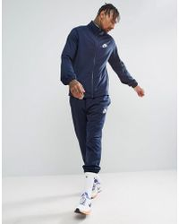 Nike - Polyknit Tracksuit Set In Navy 861780-451 - Lyst