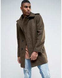 Criminal Damage - Wool Blend Belted Coat - Lyst