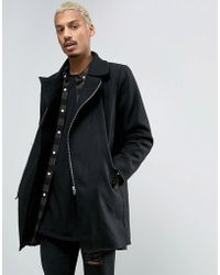 Criminal Damage - Wool Blend Nuckie Over Coat - Lyst