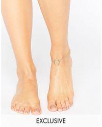 Monki - Hoop Chain Anklet - Lyst