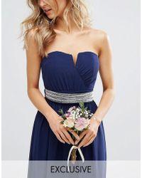TFNC London - Wedding Embellished Tonal Delicate Sash Belt - Lyst