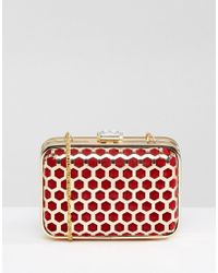 Park Lane - Honeycomb Effect Box Clutch Bag - Lyst