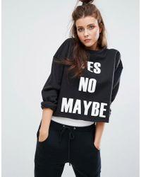 Boohoo - Yes No Maybe Sweatshirt - Lyst