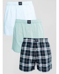 Abercrombie & Fitch - 3 Pack Woven Boxers - Lyst
