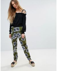 First & I - Printed Relaxed Pant - Lyst