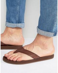 Abercrombie & Fitch - Leather Flip Flops - Lyst