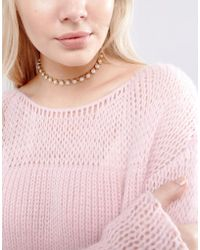 New Look - Pearl Choker Necklace - Lyst