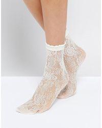 Monki - Lace Socks - Lyst