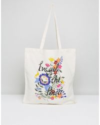 Monki - I've Got The Power Tote Bag - Lyst