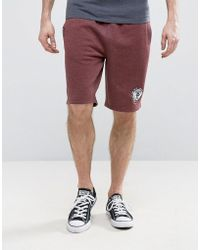 Tokyo Laundry - Sweat Shorts In Gray Marl With Badge And Tipping - Lyst