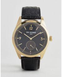 Ben Sherman - Wb052bg Leather Watch In Black - Lyst