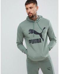 1fd6494ae PUMA - Sudadera con capucha en verde 57679023 con logo Archive de - Lyst
