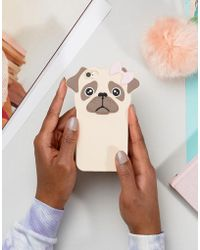 New Look - Rubber Pug Iphone 6 Phone Case - Lyst