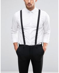 ASOS - Wedding Braces With Black Coated Trims - Lyst