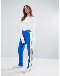 Daisy Street - Relaxed Joggers With Flame Side Stripe - Lyst
