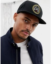 ASOS - Snapback In Black With Gold Embroidery - Lyst
