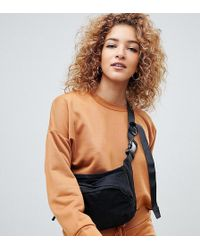 Boohoo - Oversized Boxy Sweat In Camel - Lyst