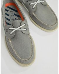 Sperry Top-Sider - Topsider Daytona Boat Shoes In Gray - Lyst