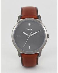 Fossil - Fs5479 Minimalist Leather Watch 44mm - Lyst