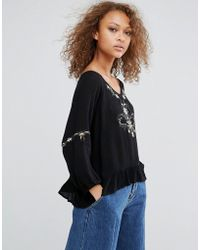 Oeuvre - Embroidered Top - Lyst