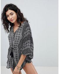 Rip Curl - Rip Curl Black Sand Beach Kimono - Lyst