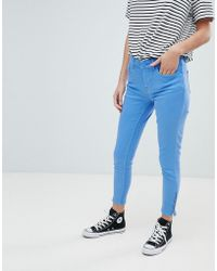 Oasis - Zip Hem Skinny Jeans - Lyst