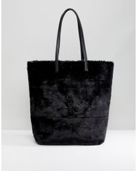 New Look | Oversized Faux Fur Tote Bag | Lyst