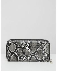 French Connection - French Connenction Faux Snakeskin Purse - Lyst