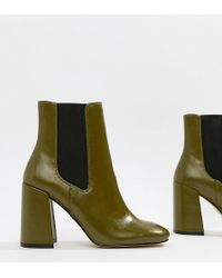 edada9ab0085 River Island Black Patent Square Toe Block Heel Sock Boots in Black ...