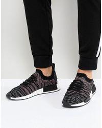 Lyst - adidas Originals Nmd R1 Stlt Primeknit Trainers In Black ... 3f391eafb