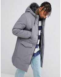 ASOS - Heavyweight Parka In Gray - Lyst