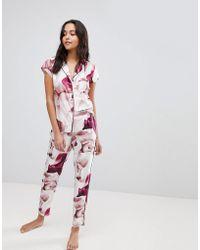 Ted Baker - B By Porcelain Rose Printed Pyjama Pant - Lyst