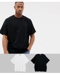 d9b47b6cf2 ASOS Tall Oversized Stripe T-shirt With Distressing in Black for Men ...