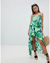 577eb7fb75 Boohoo Arianna Bohemian Print Dipped Hem Maxi Skirt in Black - Lyst