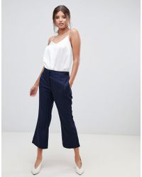 Millie Mackintosh - Pinstripe Crop Flare Co-ord Trousers - Lyst