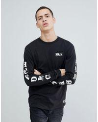 Huf - X Felix The Cat Long Sleeve T-shirt In Black - Lyst