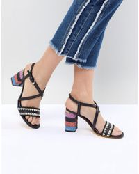 PS by Paul Smith - Ps By Paul Smith Raffia Heel Sandal - Lyst