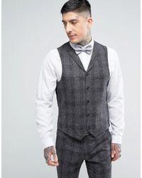 Rudie - Skinny Nep Check Waistcoat - Lyst