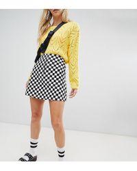 Reclaimed (vintage) - Inspired Check Mini Skirt - Lyst