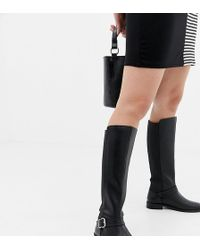 3a2d1e8c4c4 ASOS - Wide Fit Carrick Knee High Riding Boots - Lyst