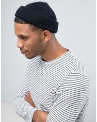 ASOS - Mini Fisherman Beanie In Black - Lyst