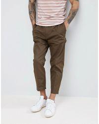 HUGO - Cargo Trousers In Khaki - Lyst