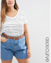 ASOS - Tipped Jeans Belt - Lyst