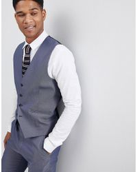 SELECTED - Waistcoat In Textured Fabric - Lyst