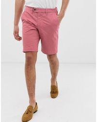 Ted Baker - Chino Short In Pink - Lyst