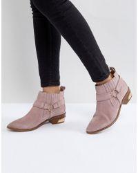 Office - Atlas Blush Suede Western Boots - Lyst