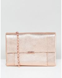 Ted Baker - Cross Body Bag In Unlined Leather - Lyst